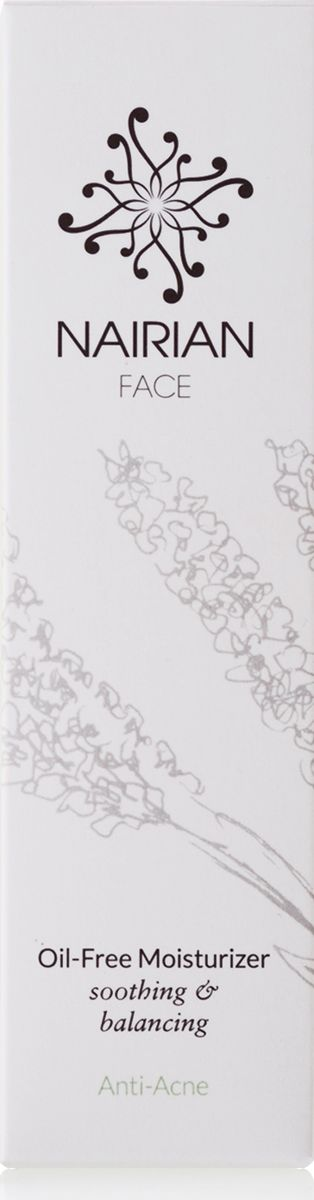 Nairian Безжирный увлажняющий крем анти-акне, 50 млMZFAC-01-0050Успокаивающий крем помогает при угревой сыпи и делает кожу шелковистой и гладкой. Экстракт огурца сужает поры и обладает бактерицидным действием; эфирное масло лимона снимает воспаления от угревой сыпи и предохраняет кожу от инфекций; а эфирное масло лаванды широколистной придает коже гладкость и блеск, разглаживает и обновляет.