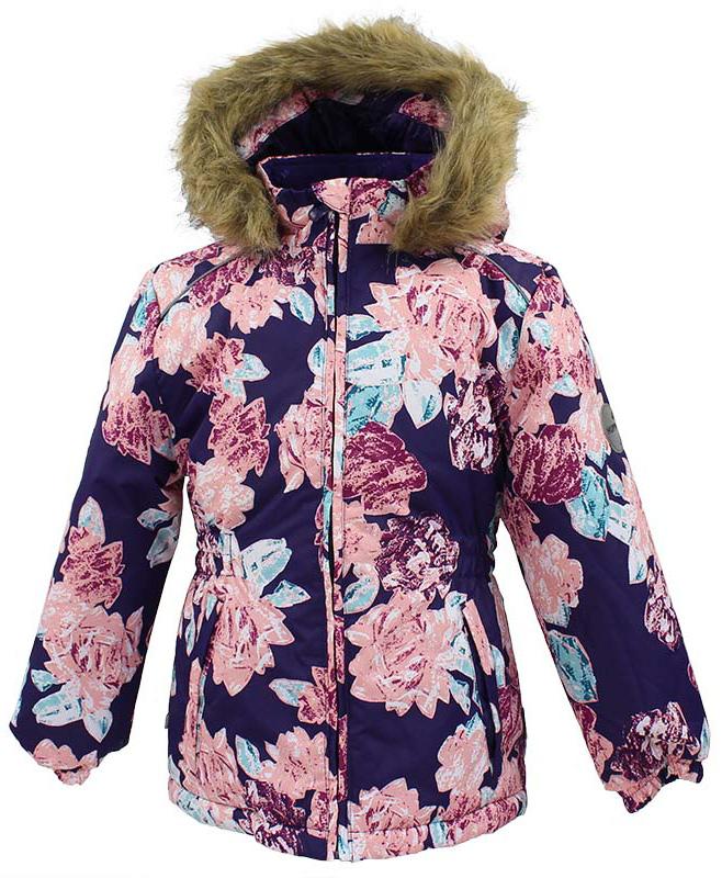 Куртка для девочки Huppa Marii, цвет: темно-фиолетовый, розовый. 17830030-71573. Размер 11617830030-71573Куртка для девочки Huppa Marii выполнена из водо- и воздухонепроницаемого материала - полиэстера. Утеплитель из полиэстера и подкладка из флиса не дадут замерзнуть. Модель с воротником-стойкойи отстегивающимся капюшоном с мехом застегивается на застежку-молнию. Манжеты рукавов и область талии модели присборены на резинки. Спереди расположены прорезные карманы. Светоотражающие детали обеспечат безопасность вашего ребенка в темное время суток.