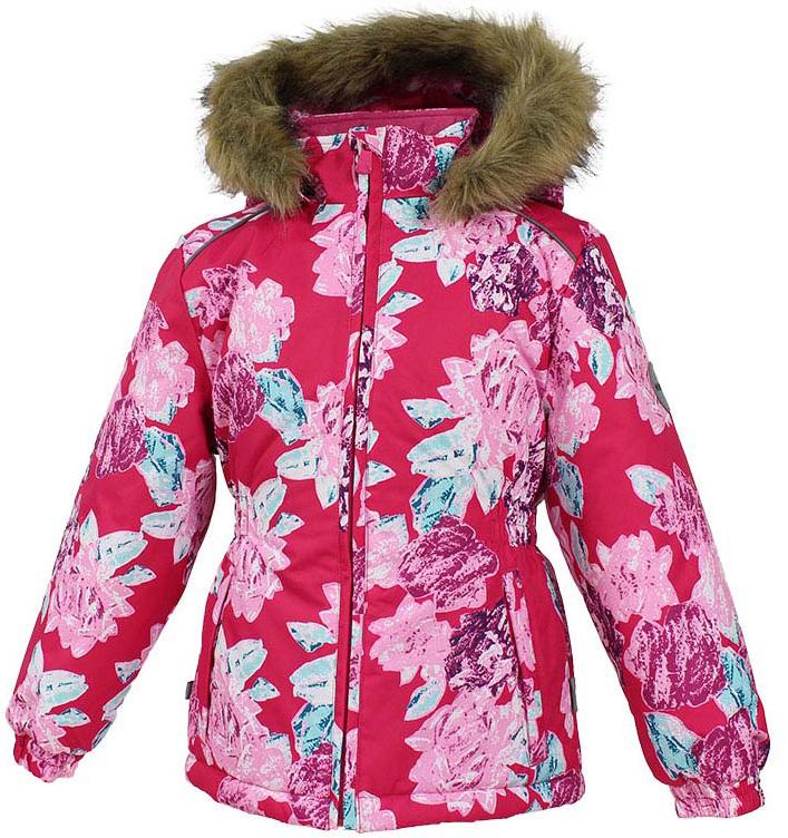 Куртка для девочки Huppa Marii, цвет: фуксия. 17830030-71563. Размер 10417830030-71563Теплая куртка для девочки Huppa идеально подойдет для ребенка в холодное время года. Куртка изготовлена из 100% полиэстера. Вес утеплителя - 300 г.Куртка с капюшоном застегивается на пластиковую застежку-молнию. Капюшон, декорированный мехом, защитит нежные щечки от ветра. Спереди расположены два прорезных кармашка. Оформлено изделие оригинальным принтом.Предусмотрены светоотражающие элементы для безопасности ребенка в темное время суток.