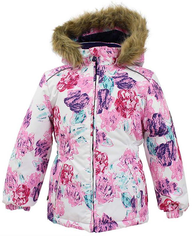 Куртка для девочки Huppa Marii, цвет: белый. 17830030-71520. Размер 11617830030-71520Теплая куртка для девочки Huppa идеально подойдет для ребенка в холодное время года. Куртка изготовлена из 100% полиэстера. Вес утеплителя - 300 г.Куртка с капюшоном застегивается на пластиковую застежку-молнию. Капюшон, декорированный мехом, защитит нежные щечки от ветра. Спереди расположены два прорезных кармашка. Оформлено изделие оригинальным принтом.Предусмотрены светоотражающие элементы для безопасности ребенка в темное время суток.