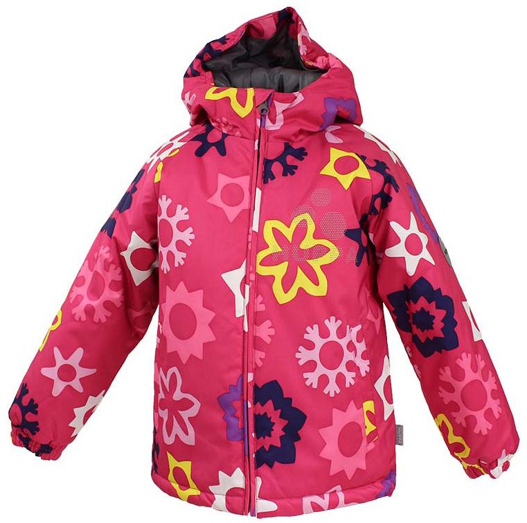 Куртка для девочки Huppa Classy, цвет: фуксия. 17710030-P63. Размер 11617710030-P63Детская куртка Huppa изготовлена из водонепроницаемого полиэстера. Куртка с капюшоном застегивается на пластиковую застежку-молнию с защитой подбородка. Края капюшона и рукавов собраны на внутренние резинки. У модели имеются два врезных кармана. Изделие дополнено светоотражающими элементами