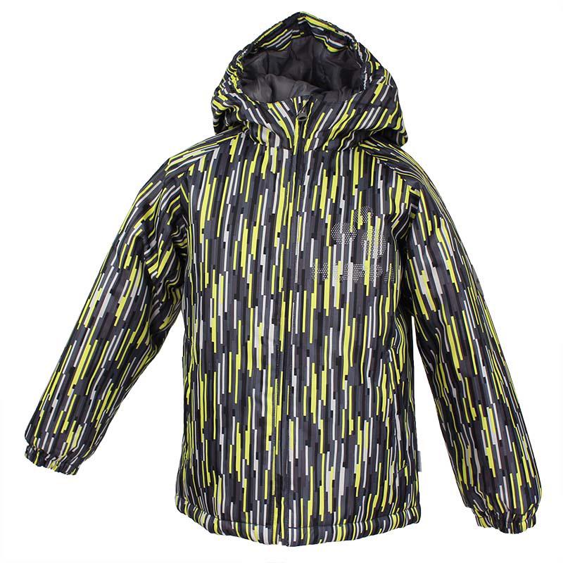 Куртка детская Huppa Classy, цвет: серый, желтый. 17710030-547. Размер 13417710030-547Детская куртка Huppa изготовлена из водонепроницаемого полиэстера. Куртка с капюшоном застегивается на пластиковую застежку-молнию с защитой подбородка. Края капюшона и рукавов собраны на внутренние резинки. У модели имеются два врезных кармана. Изделие дополнено светоотражающими элементами.