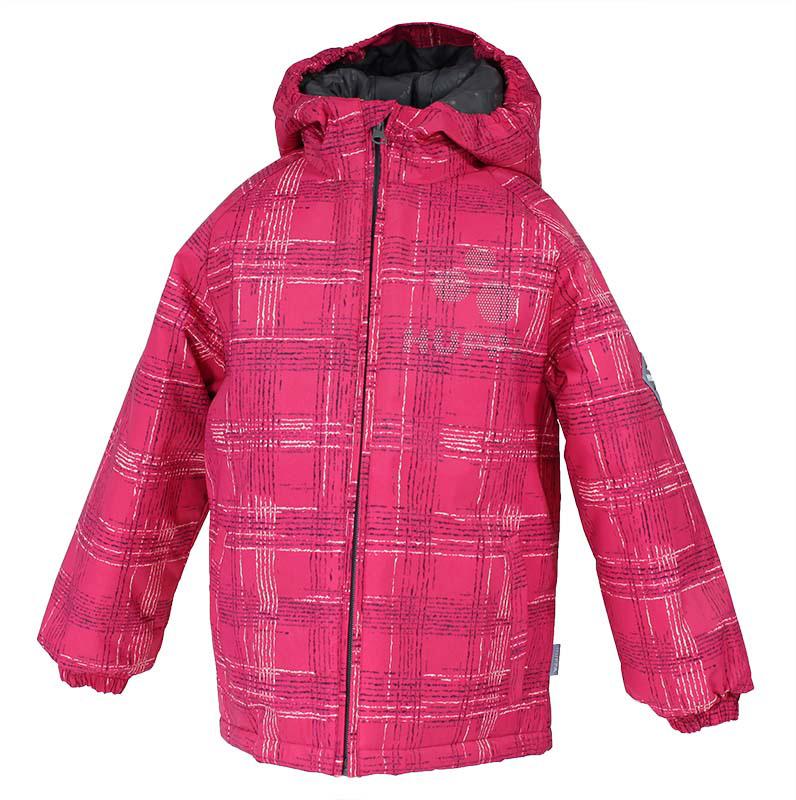 Куртка для девочки Huppa Classy, цвет: малиновый. 17710030-363. Размер 12217710030-363Куртка для девочки Huppa изготовлена из водонепроницаемого полиэстера. Куртка с капюшоном застегивается на пластиковую застежку-молнию с защитой подбородка. Края капюшона и рукавов собраны на внутренние резинки. У модели имеются два врезных кармана. Изделие дополнено светоотражающими элементами.