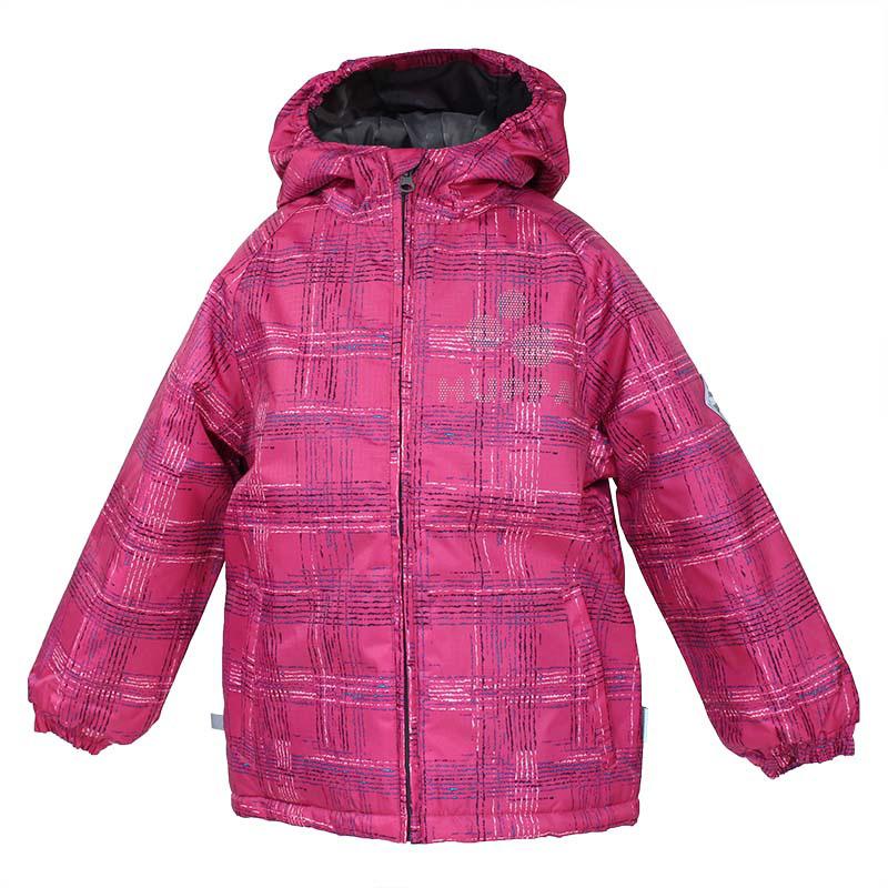 Куртка для девочки Huppa Classy, цвет: фуксия. 17710030-163. Размер 12217710030-163Куртка для девочки Huppa изготовлена из водонепроницаемого полиэстера. Куртка с капюшоном застегивается на пластиковую застежку-молнию с защитой подбородка. Края капюшона и рукавов собраны на внутренние резинки. У модели имеются два врезных кармана. Изделие дополнено светоотражающими элементами.