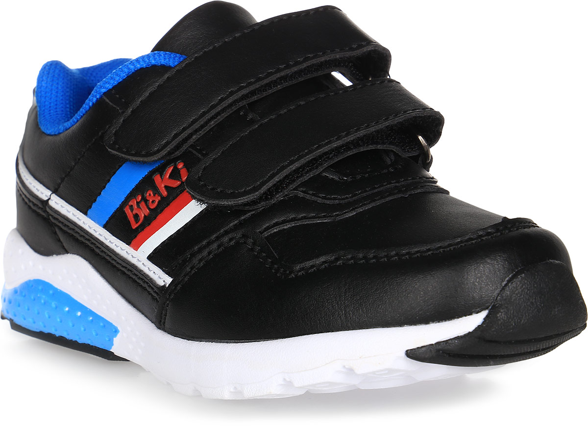 Кроссовки для мальчика BiKi, цвет: черный. А-B25-50-A. Размер 27А-B25-50-AКроссовки BiKi выполнены из искусственной кожи. Модель оформлена контрастными вставками по бокам. Застежки-липучки обеспечивают надежную фиксацию обуви на ноге ребенка. Подкладка выполнена из текстиля и натуральной кожи, что предотвращает натирание и гарантирует уют. Подошва с рифлением обеспечивает идеальное сцепление с любыми поверхностями. Стильные и удобные кроссовки - незаменимая вещь в гардеробе каждого ребенка.