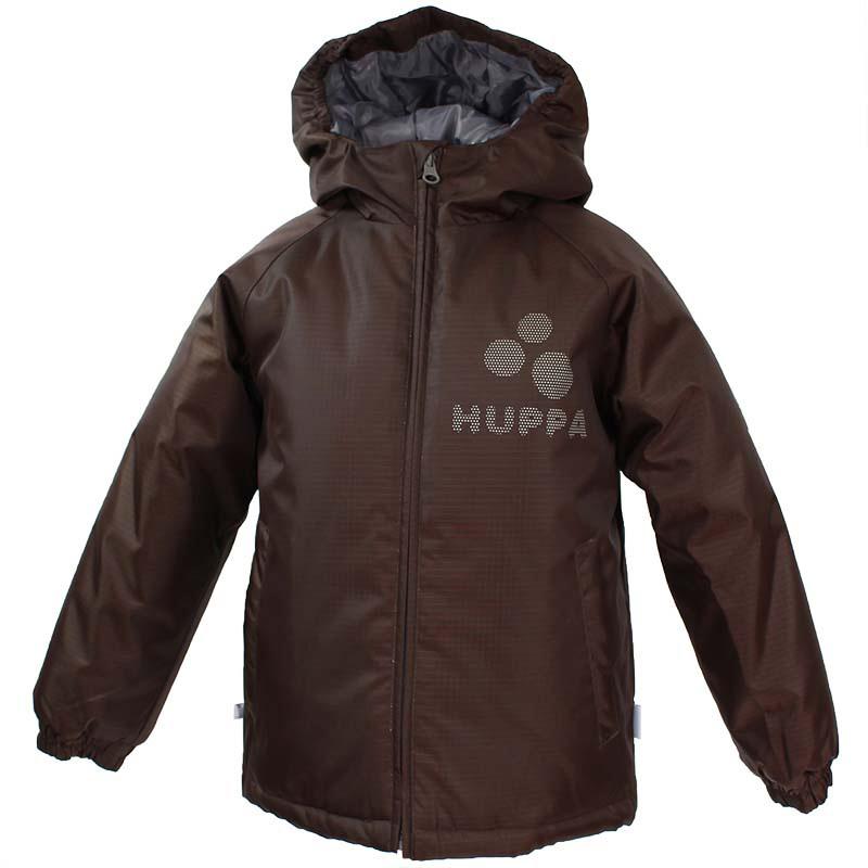 Куртка для мальчика Huppa Classy2, цвет: коричневый. 17710030-081. Размер 12217710030-081Куртка для мальчика Huppa изготовлена из водонепроницаемого полиэстера. Куртка с капюшоном застегивается на пластиковую застежку-молнию с защитой подбородка. Края капюшона и рукавов собраны на внутренние резинки. У модели имеются два врезных кармана. Изделие дополнено светоотражающими элементами.