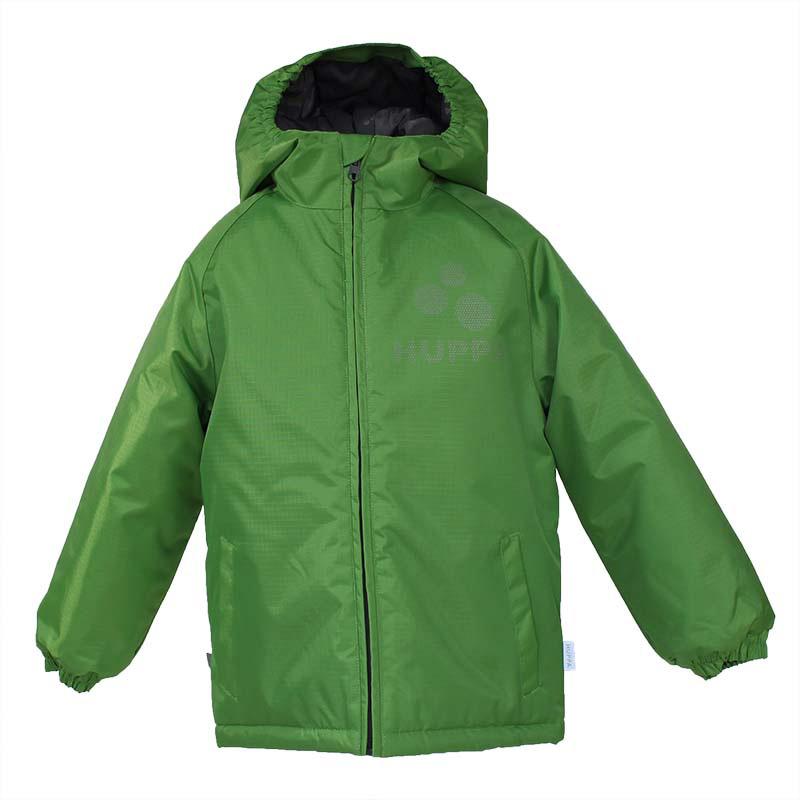 Куртка детская Huppa Classy, цвет: зеленый. 17710030-067. Размер 10417710030-067Детская куртка Huppa изготовлена из водонепроницаемого полиэстера. Куртка с капюшоном застегивается на пластиковую застежку-молнию с защитой подбородка. Края капюшона и рукавов собраны на внутренние резинки. У модели имеются два врезных кармана. Изделие дополнено светоотражающими элементами.