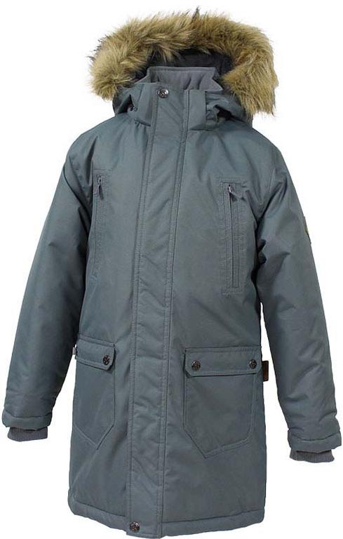 Куртка детская Huppa Vesper, цвет: серый. 17480030-70048. Размер 16417480030-70048Детская куртка Huppa c длинными рукавами, воротником-стойкой и съемным капюшоном выполнена из высококачественного водонепроницаемого и ветрозащитного материала на основе полиэстера. Модель застегивается на застежку-молнию с защитой подбородка спереди и имеет ветрозащитный клапан на кнопках. Куртка дополнена светоотражающими элементами, все швы проклеены.