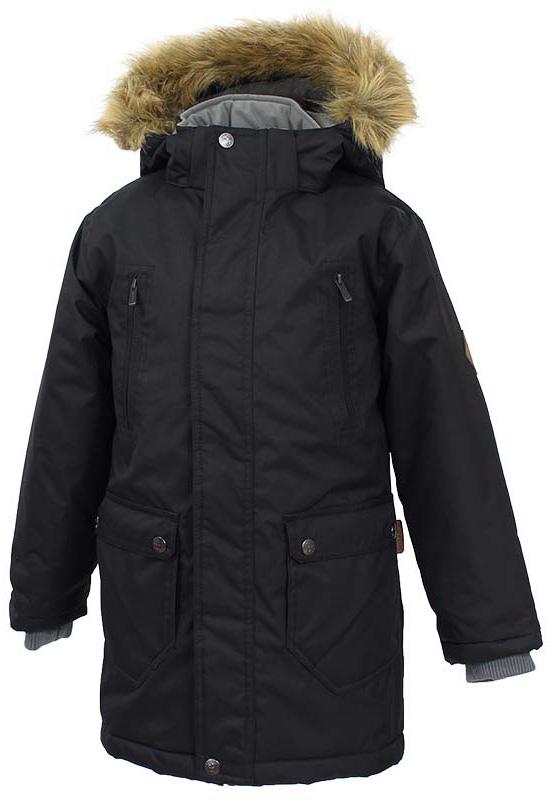 Куртка детская Huppa Vesper, цвет: черный. 17480030-70009. Размер 16417480030-70009Детская куртка Huppa c длинными рукавами, воротником-стойкой и съемным капюшоном выполнена из высококачественного водонепроницаемого и ветрозащитного материала на основе полиэстера. Модель застегивается на застежку-молнию с защитой подбородка спереди и имеет ветрозащитный клапан на кнопках. Куртка дополнена светоотражающими элементами, все швы проклеены.