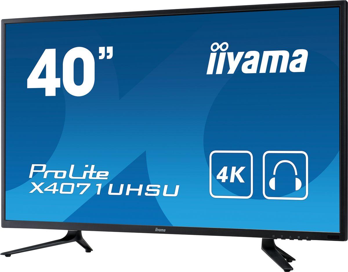 iiyama ProLite X4071UHSU-B1, Black мониторX4071UHSU-B140 3840x2160, MVA panel, 4K UHD, 350cdm?, >12mlnln:1 ACR, 10bit panel, Speakers, 1xDisplayPort, 3xHDMI (MHL), VGA, 3ms, USB HUB (3.0)