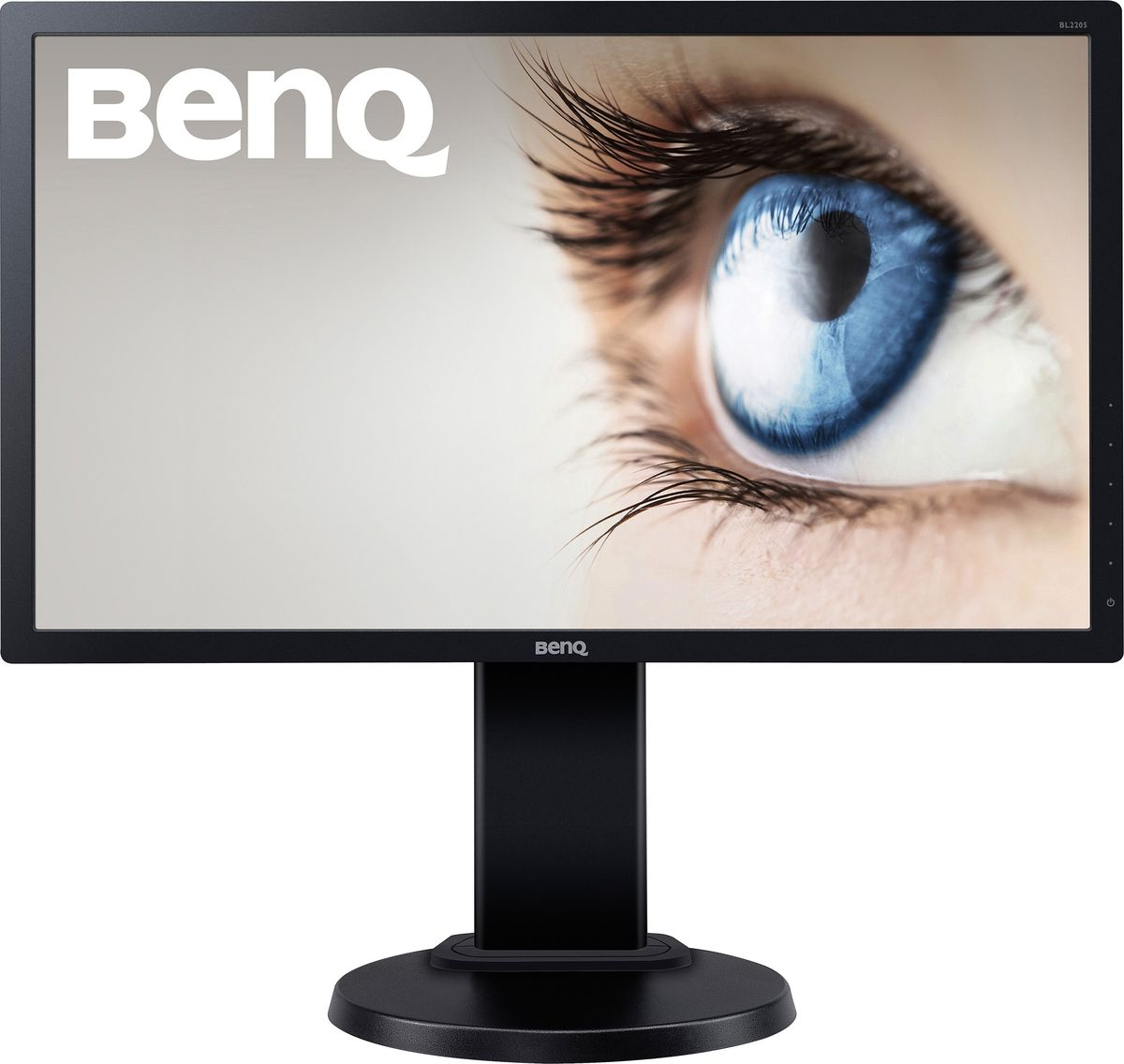 BenQ BL2205PT, Black монитор9H.LE9LA.TBEColor: Black; Size: 21.5W; Resolution:1920x1080; 16:9; Display Area(mm): 476.64X268.11; Brightness ( typ.): 250 nits; Contrast ( typ. ): 1000:1(DCR: 12M:1); Viewing angle (L/R;U/D) (CR>=10): 170/160; Response time(Tr+Tf) typ.: 5ms (2ms GtG); MPRT (Motion Picture Response time): No; Display Colors: 16.7 M; Color Gamut: 72%; Input connector: D-sub / DVI / DP1.2; Power consumption (On mode): 32W; Power saving mode: <0.5W; Senseye: Senseye3; AMA: Yes; Win8: Yes; HDCP: Yes; Speaker: 1Wx2; VESA Wall Mounting: 100x100mm; HAS:110mm; Swivel: 45/45; Tilt: -5~20; Pivot: 90°; Signal cable: VGA; Others: No; LED Backlight; Low Blue Light, Flicker-free; TCO 6.0; EPEAT: Silver