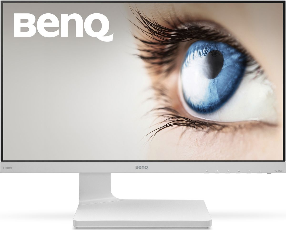 BenQ VZ2470H, White монитор9H.LDWLB.Q5EColor: White; Size: 23.8W; Resolution: 1920x1080; Display Area(mm): 527.04 ? 296.46; Brightness ( typ.): 250 nits; Contrast ( typ. ): 3000:1; Viewing angle (L/R;U/D) (CR>=10): 178/178; Response time(Tr+Tf) typ.: 4ms GTG; Display Colors: 16.7million; Color Gamut: 72% NTSC; Input connector: D-sub/HDMI1.4x2; Power consumption (On mode): 31.5W; Power saving mode: <0.5W; AMA: No; Win10: Yes; HDCP: No; Speaker: No; VESA Wall Mounting: No; Tilt: -5~20; Signal cable: VGA/HDMI; LED Backlight, High adjustment: No; Flicker-free; Low Blue Light