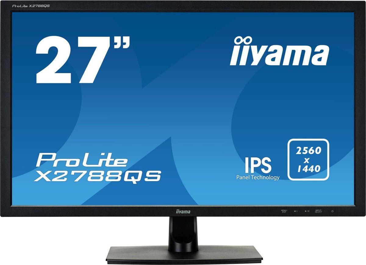 iiyama ProLite X2788QS-B1, Black мониторX2788QS-B1iiyama ProLite X2788QS-B1 - это экологичный 27-дюймовый ЖК-монитор с LED-подсветкой и матрицей типа IPS,которая обеспечивает великолепное качество передачи цветов и широкие углы обзора.WQHDМатрица c разрешением WQHD 2560 x 1440 готова отобразить картинки большого размера и разрешения. Экранвмещает на 50% больше информации по сравнению с разрешением 1920х1080 точек.Нет мерцания + подавление синегоОтличное решение для комфорта и здоровья ваших глаз. Немерцающие мониторы с функцией подавления синегоцвета. И уровень синего цвета, воспроизводимого экраном и влияющего на усталость ваших глаз, значительноснижен.Динамики и наушникиИграете с друзьями? Используйте качественные встроенные динамики. Не хотите никого беспокоить?Присоедините гарнитуру к аудиоразъему и прибавьте громкости.ACRКонтрастность - это отношение яркостей самой светлой и самой тёмной частей изображения на экране ЖК- монитора. Технология Advanced Contrast Ratio (продвинутая контрастность) автоматически регулируетконтрастность и яркость, основываясь на характеристиках картинки. Чем выше контрастность, тем лучше будетсмотреться картинка в темной комнате.