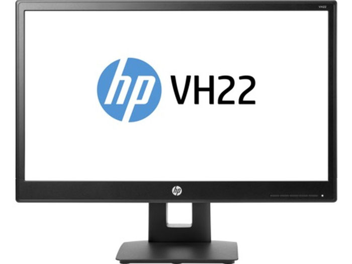 HP VH22, Black мониторX0N05AAМонитор HP 21.5 VH22 черный TN+film LED 5ms 16:9 DVI DisplayPort Mat HAS Pivot 250cd