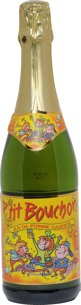 Ptit Bouchon напиток газированный яблочный, 0,75 л3182282122209Игривые пузырьки и яркий вкус с кисло-сладкими нотками спелых яблок - отличное сочетание для самых маленьких гостей! Детское шампанское не содержит красителей, консервантов и других добавок - только натуральный сок. Дополнительно обогащено витамином С. Рекомендуется подавать охлажденным.