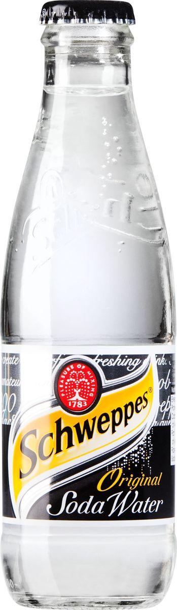 Schweppes Soda Water напиток газированный, 0,2 л42099505Soda Water - чистая питьевая сильногазированная вода. Soda Water - это высококачественный и экологически чистый продукт.Schweppes открывает новую страницу в своей истории - после недолгого перерыва он возвращается к любителям утонченных напитков. Созданный более ста лет назад, тоник Швепс стал синонимом удивительного вкуса, качества и стиля на все времена.