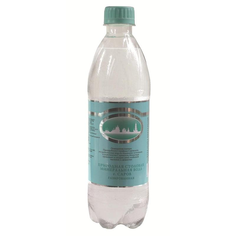 Серафимов Дар вода минеральная газированная, 0,5 л acqua natia вода минеральная 0 5 л
