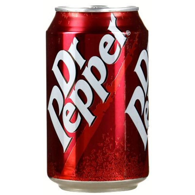 Dr.Pepper газированный напиток, 0,33 л5010102100015Лимонад доктор пеппер производят уже более века. Первоначально считался энергетиком и позиционировался как заряжающий и тонизирующий. Нравится он многим, если не каждому. Как и всякая американская газировка, этот напиток популяризирован благодаря временам перестройки и голливудскому кинематографу. Вкус необычен и выделяется среди остальных газированных вод: нельзя сказать, что это кола, скорее, вишневая косточка, ну или что то напоминающее её. Выпускается Пеппер в жестяной банке и, помимо классического, имеет ещё несколько вкусовых вариаций: вишневый, вишневый с ванилью и мороженое.
