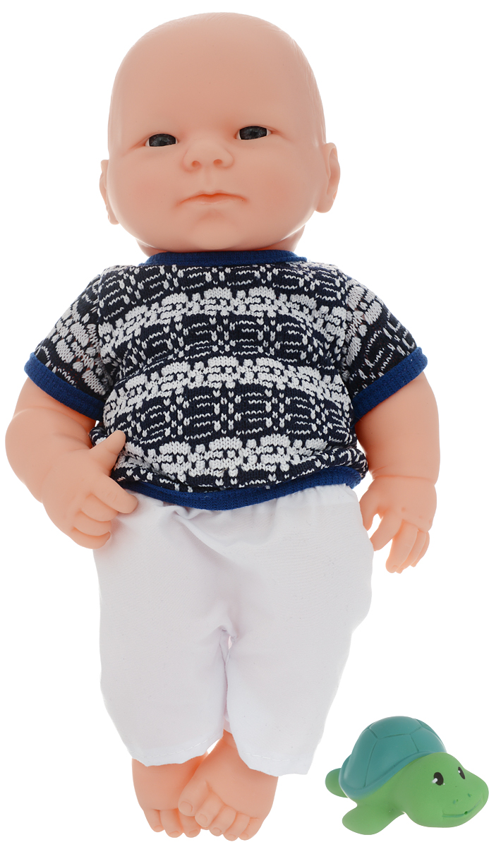 ABtoys Пупс Мой малыш с животным цвет одежды черный белый abtoys внедорожник инерционный цвет зеленый
