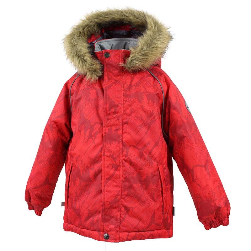 Куртка детская Huppa Marinel, цвет: красный. 17200030-73404. Размер 10417200030-73404Детская куртка Huppa изготовлена из водонепроницаемого полиэстера. Куртка застегивается на застежку-молнию и кнопки. Модель дополнена отстегивающимся капюшоном с мехом. Края рукавов собраны на внутренние резинки. У модели имеются два врезных кармана. Изделие дополнено светоотражающими элементами.