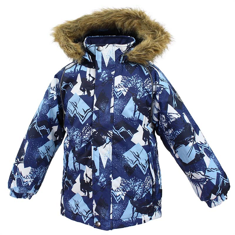 Куртка детская Huppa Marinel, цвет: темно-синий. 17200030-72586. Размер 12817200030-72586Детская куртка Huppa изготовлена из водонепроницаемого полиэстера. Куртка застегивается на застежку-молнию и кнопки. Модель дополнена отстегивающимся капюшоном с мехом. Края рукавов собраны на внутренние резинки. У модели имеются два врезных кармана. Изделие дополнено светоотражающими элементами.