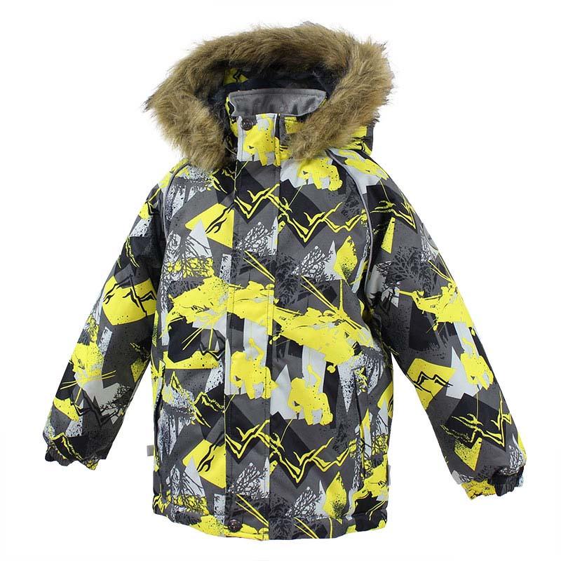 Куртка детская Huppa Marinel, цвет: серый. 17200030-72548. Размер 12217200030-72548Детская куртка Huppa изготовлена из водонепроницаемого полиэстера. Куртка застегивается на застежку-молнию и кнопки. Модель дополнена отстегивающимся капюшоном с мехом. Края рукавов собраны на внутренние резинки. У модели имеются два врезных кармана. Изделие дополнено светоотражающими элементами.
