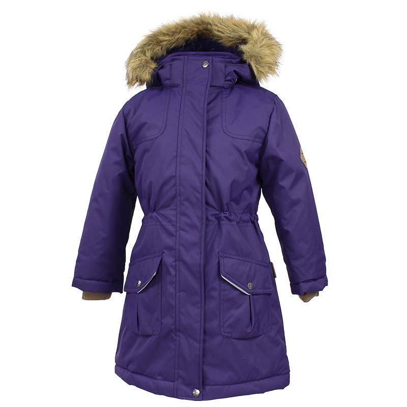 Куртка для девочки Huppa Mona, цвет: темно-лилoвый. 12200030-70073. Размер 14612200030-70073Детская куртка Huppa изготовлена из водонепроницаемого полиэстера. Куртка застегивается на застежку-молнию и кнопки. Модель дополнена отстегивающимся капюшоном с мехом и светоотражающими элементами.