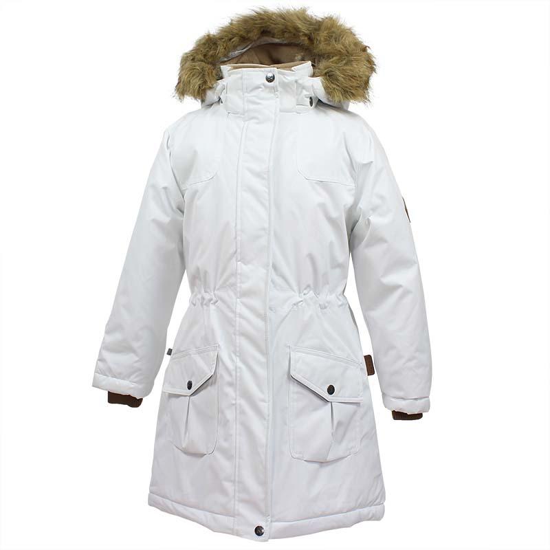 Куртка для девочки Huppa Mona, цвет: белый. 12200030-70020. Размер 15212200030-70020Детская куртка Huppa изготовлена из водонепроницаемого полиэстера. Куртка застегивается на застежку-молнию и кнопки. Модель дополнена отстегивающимся капюшоном с мехом и светоотражающими элементами.