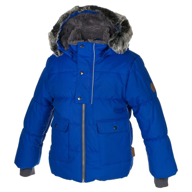 Куртка детская Huppa Oliver, цвет: синий. 17900030-70035. Размер 11617900030-70035Детская куртка Huppa изготовлена из водонепроницаемого полиэстера. Куртка застегивается на застежку-молнию и кнопки. Модель дополнена отстегивающимся капюшоном с мехом. У модели имеются два накладных кармана с клапанами на кнопках. Изделие дополнено светоотражающими элементами.