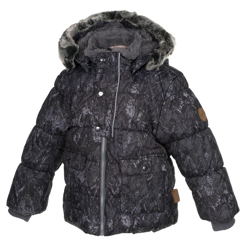 Куртка детская Huppa Oliver, цвет: черный. 17900030-73209. Размер 11017900030-73209Детская куртка Huppa изготовлена из водонепроницаемого полиэстера. Куртка застегивается на застежку-молнию и кнопки. Модель дополнена отстегивающимся капюшоном с мехом. У модели имеются два накладных кармана с клапанами на кнопках. Изделие дополнено светоотражающими элементами.
