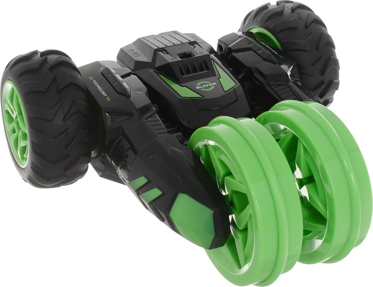 MKB Машинка на радиоуправлении Причудливый трюкач цвет черный зеленый машинка на пульте управления для детей