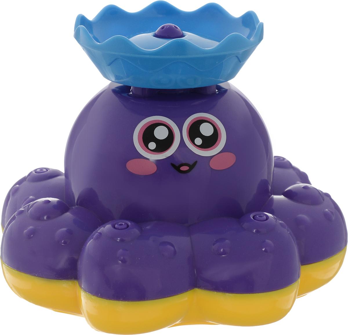 ABtoys Игрушка для ванной Осьминог-фонтан цвет фиолетовый
