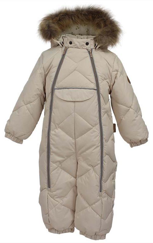 Комбинезон утепленный детский Huppa Beata 1, цвет: светло-бежевый. 31930155-70061. Размер 74