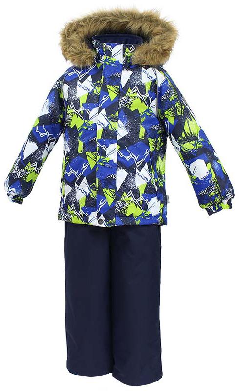 Комплект одежды для мальчика Huppa Winter: куртка, полукомбинезон, цвет: синий, темно-синий. 41480030-72535. Размер 11641480030-72535Комплект одежды Huppa Winter состоит из куртки и полукомбинезона. Куртка оснащена ветрозащитной планкой по всей длине и безопасным съемным капюшоном. Полукомбинезон очень практичен: хорошо закрывает грудку и спинку ребенка, широкие эластичные регулируемые лямки. Вечерние прогулки в этом костюме будут не только приятными, но и безопасными благодаря светоотражающим элементам на куртке и полукомбинезоне.