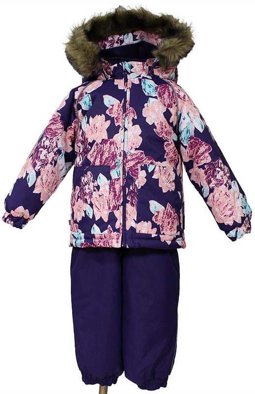 Комплект одежды для девочки Huppa Avery: куртка, полкомбинезон, цвет: темно-лилoвый, розовый. 41780030-71573. Размер 104 костюмы huppa комплект avery
