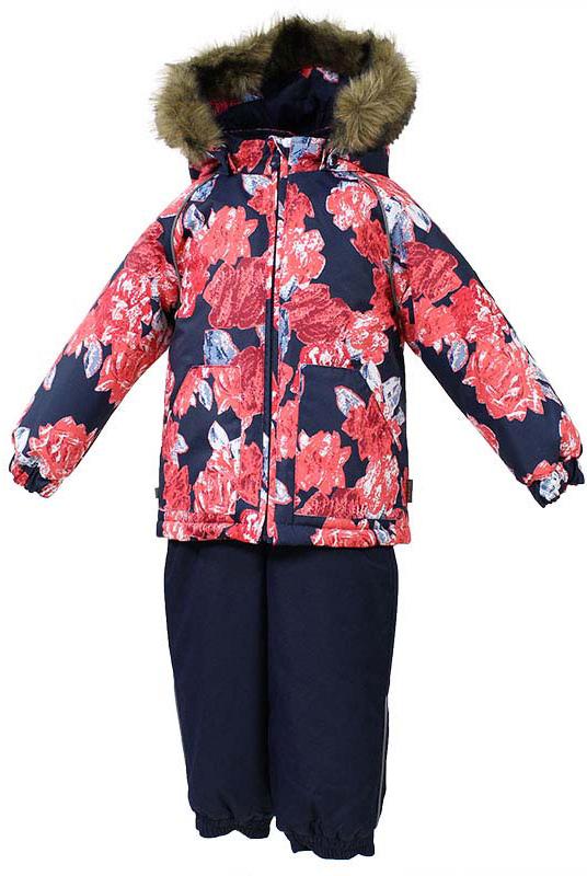 Комплект одежды для девочки Huppa Avery: куртка, полукомбинезон, цвет: темно-синий, красный. 41780030-71586. Размер 104 костюмы huppa комплект avery