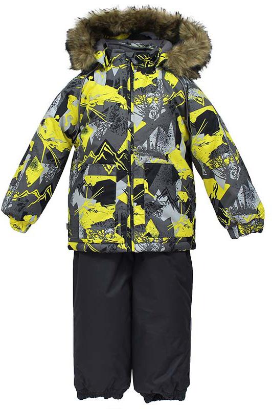 Комплект одежды детский Huppa Avery: куртка, полукомбинезон, цвет: серый, желтый. 41780030-72548. Размер 10441780030-72548Комплект одежды детский Huppa Avery состоит из куртки и полукомбинезона. Куртка оснащена ветрозащитной планкой по всей длине молнии с защитой подбородка и безопасным съемным капюшоном. Полукомбинезон очень практичен: хорошо закрывает грудку и спинку ребенка, широкие эластичные регулируемые лямки. Вечерние прогулки в этом костюме будут не только приятными, но и безопасными благодаря светоотражающим элементам на куртке и полукомбинезоне.