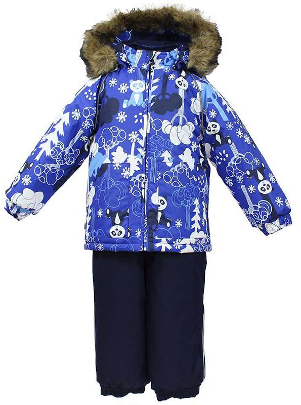 Комплект одежды для мальчика Huppa Avery: куртка, полукомбинезон, цвет: синий, темно-синий. 41780030-73235. Размер 104 костюмы huppa комплект avery
