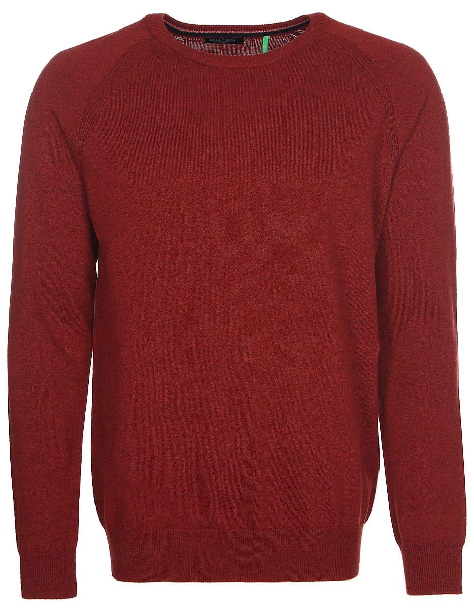 Джемпер мужской Sela, цвет: коричневый. JR-214/273-7340. Размер M (48)