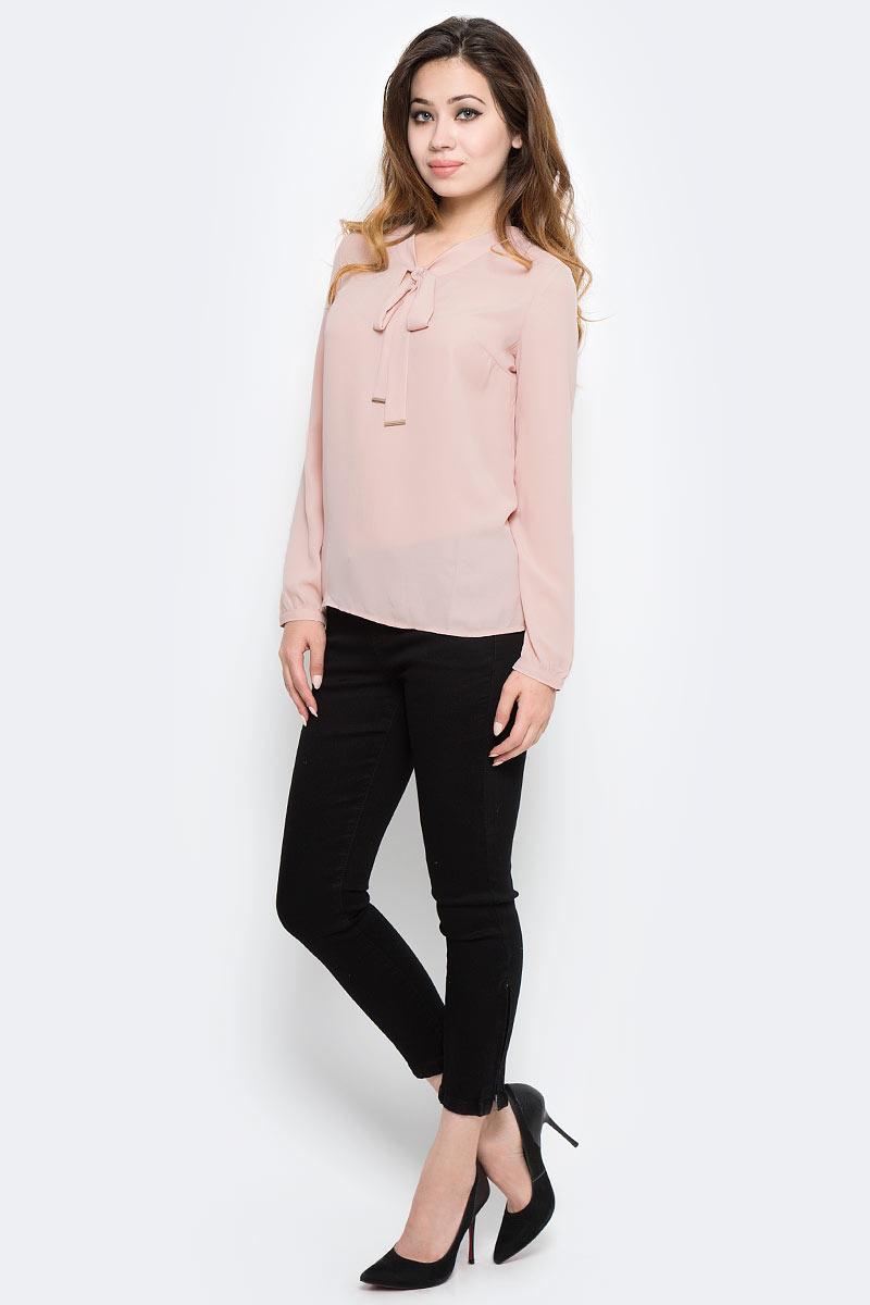 Блузка женская Sela, цвет: розовый. Tw-112/1291-7320. Размер 44Tw-112/1291-7320Стильная женская блузка от Sela выполнена из высококачественного материала. Модель свободного кроя и с длинными рукавами.