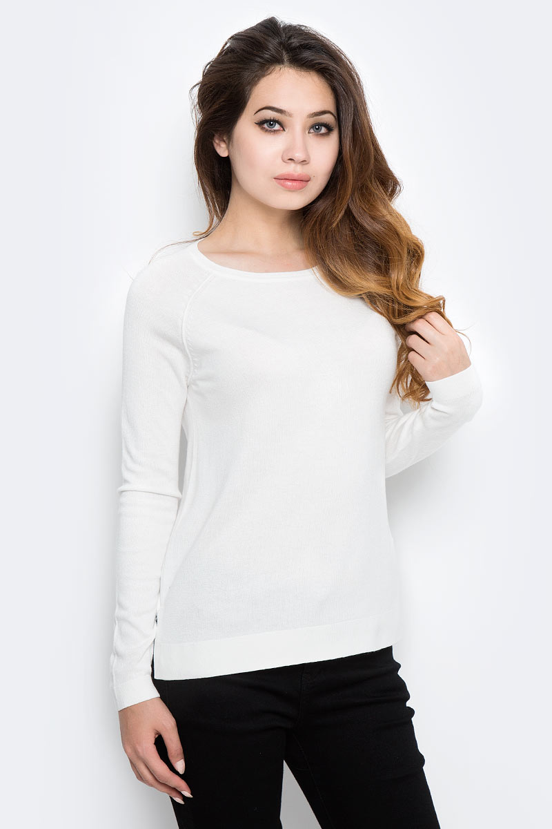Джемпер женский Sela, цвет: белый. JR-114/1217-7390. Размер L (48) все цены