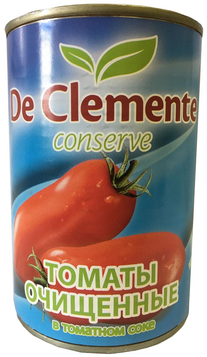 De Clemente Conserve, томаты очищенные в томатном соке, 400 г8017477090108Отличная закуска сама по себе и замечательный ингредиент для приготовления различных блюд. Можно пожарить их с овощами, или сделать вкуснейший соус. Продукт изготовлен по уникальной технологии, и очищен. Перед вами широкий простор для кулинарных фантазий!