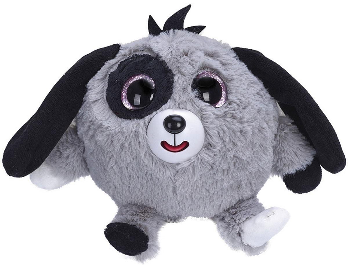 1TOY Мягкая озвученная игрушка Дразнюка-Zooка Собачка цвет серый 13 см малышарики мягкая игрушка собака бассет хаунд 23 см