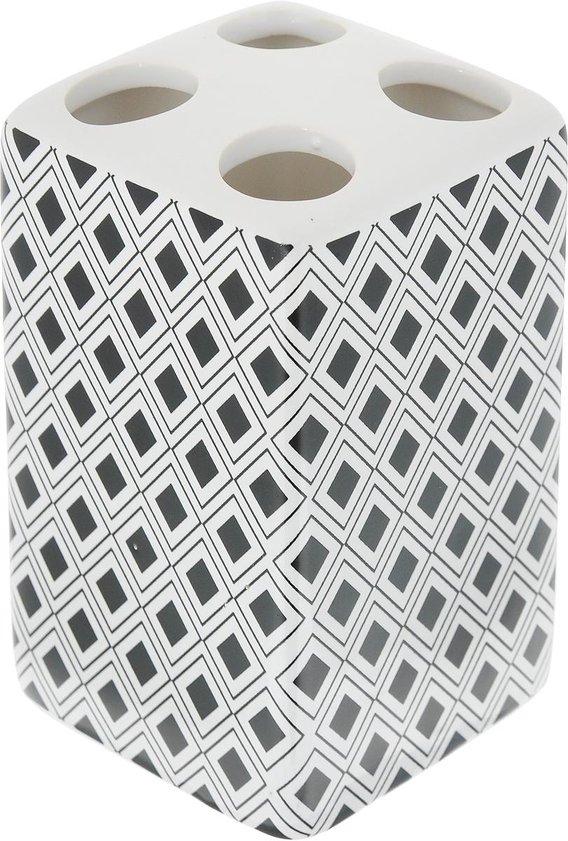 Стакан для зубных щеток Коллекция Гео, высота 10,5 смATP-442Оригинальный стакан для зубных щеток Коллекция Гео, изготовленный из высококачественной керамики, снабжен 4 отверстиями для зубных щеток. Такой стакан отлично подойдет для вашей ванной комнаты. Вы оцените изделие за практичность и функциональность, а также стильный дизайн, который притягивает взгляд.