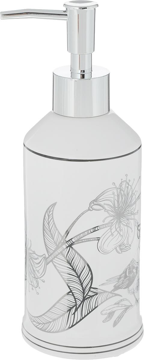 """Диспенсер для жидкого мыла Коллекция """"Голд"""", изготовленный из высококачественной керамики и металла, отлично подойдет для вашей ванной комнаты. Такой аксессуар очень удобен в использовании, достаточно лишь перелить жидкое мыло в диспенсер, а когда необходимо использование мыла, легким нажатием выдавить нужное количество. Диспенсер для жидкого мыла Коллекция """"Голд"""" создаст особую атмосферу уюта и максимального комфорта в ванной.Размер диспенсера: 7,5 х 7,5 х 20 см."""