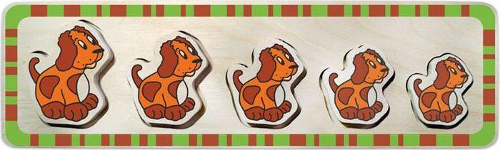 Alatoys Пазл-вкладыш для малышей Собачки флексика пазл для малышей геометрия цвет основы красный