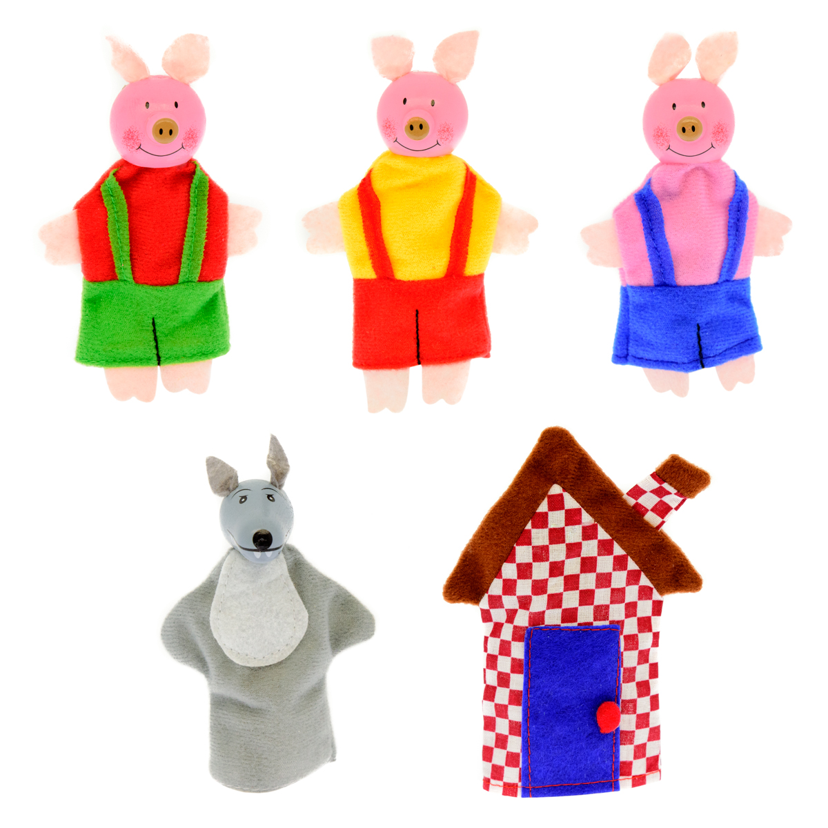 Анданте Кукольный театр Три поросенка пазлы игрушки из дерева пазлы книжка три поросенка