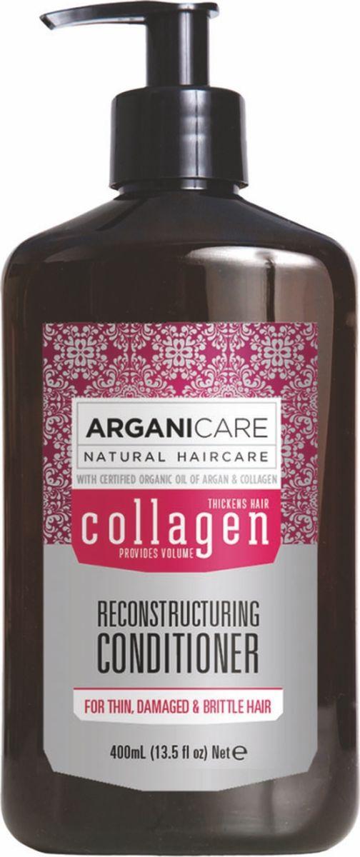 Arganicare Коллагеновый кондиционер для тонких, ломких и поврежденных волос Arganicare, 400 млAr1174Усиливает действие шампуня, обеспечивая дополнительное глубокое питание и сбалансированное увлажнение; - преображает ваш внешний вид: делает волосы очень мягкими, гладкими и приятными на ощупь, разглаживает кутикулу волоса и придает объем.