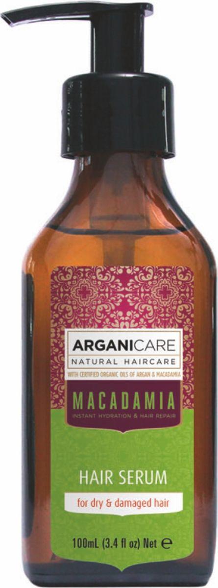 Arganicare Серум для сухих и поврежденных волос с маслом макадамии Arganicare, 100 млAr4636Экстра-питательный серум на основе 3 масел для ежедневного применения: наносится на влажные волосы перед сушкой или в качестве маски на кончики волос 2-3 раза в неделю. - задача серума: избавить волосы (особенно на кончиках) от сухости, жесткости и разрушения; - уменьшает ломкость волос, восстанавливает жизненную силу и блеск; - обеспечивает защиту от вредного воздействия сушки и укладки, солнца, сухого воздуха и ветра.