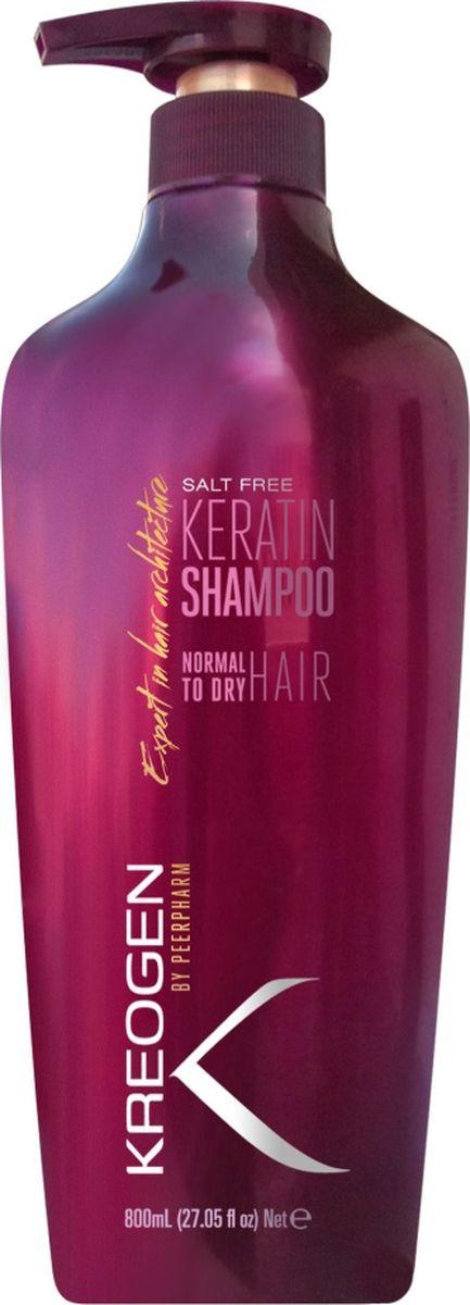 Kreogen Кератиновый бессолевой шампунь для нормальных и сухих волос, Kreogen, 800 млKr2022Основной активный ингредиент косметики Kreogen - кератин - чрезвычайно сильный протеин, основной компонент структуры волос.- подходит для волос, которые подверглись химической обработке: окрашивание, обесцвечивание, выпрямление или частые сушки и укладки;- бессолевая формула не вымывает кератин после кератинового выпрямления и сохраняет сочность и яркость оттенков при окрашивании;- разглаживает кутикулы волос и наполняет волосы питательными веществами, придавая им объем, здоровье и блеск.